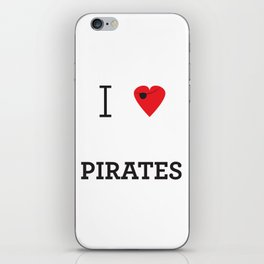 I heart Pirates iPhone Skin