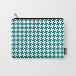 Teal Green Houndstooth Pattern Design Carry-All Pouch