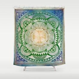 Metta Mandala, Loving Kindness Meditation Shower Curtain