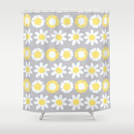 Peggy Yellow Shower Curtain