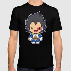 FunSized Vegeta Mens Fitted Tee Black SMALL