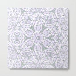 Lavender Snowflake Metal Print