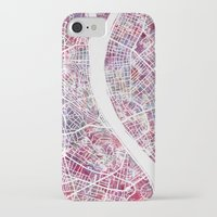 budapest iPhone & iPod Cases featuring Budapest map by MapMapMaps.Watercolors