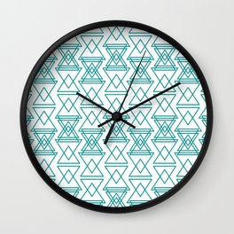 RIGHT AND WRONG I: EASY BLUE Wall Clock