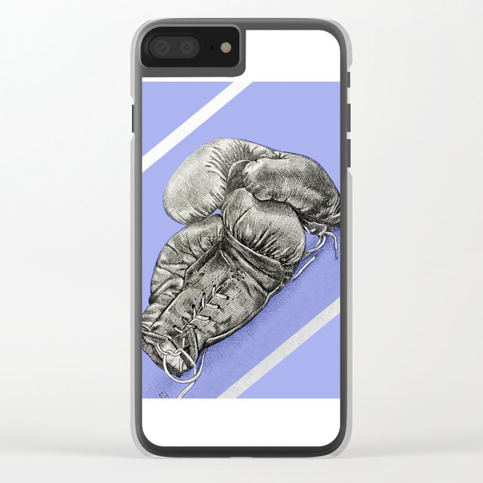 Boxing gloves blue Clear iPhone Case