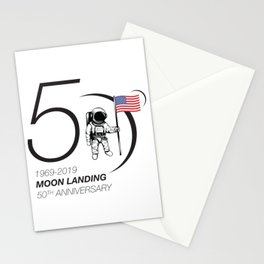 Moon landing 50th year anniversary Stationery Cards