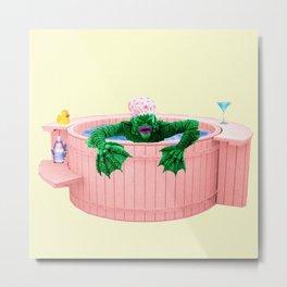 Black Lagoon Monster In Hot Tub Metal Print