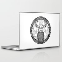 pentagram Laptop & iPad Skins featuring The Watcher by Eurimos