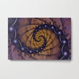 An Emperor Scorpion's 1001 Fractal Spiral Stingers Metal Print