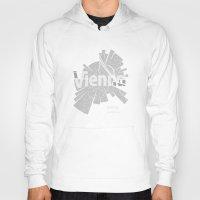 vienna Hoodies featuring Vienna Map by Shirt Urbanization