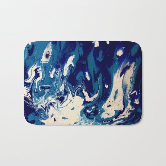 MIDNIGHT BLUE MARBLE #2 Bath Mat