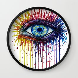 Colorful Eye Wall Clock