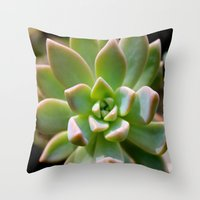 succulent Throw Pillows featuring Succulent by Wandering Star Trails