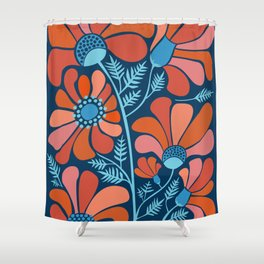 Flower Power IV Shower Curtain