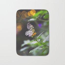 Butterflies + Twinkle Lights 1 Bath Mat