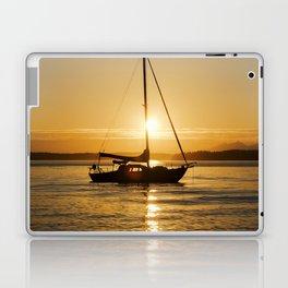 Sunset Escape Boat Laptop & iPad Skin