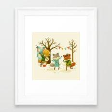 Critters: Spring Dancing Framed Art Print