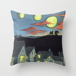 Witch Rumors Throw Pillow