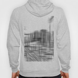 pencil drawing buildings in the city in black and white Hoody