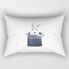 Mr. Rabbit and the Mad Hatter hat Rectangular Pillow