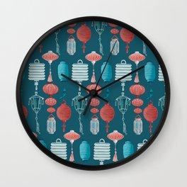 Lantern festival pattern Wall Clock