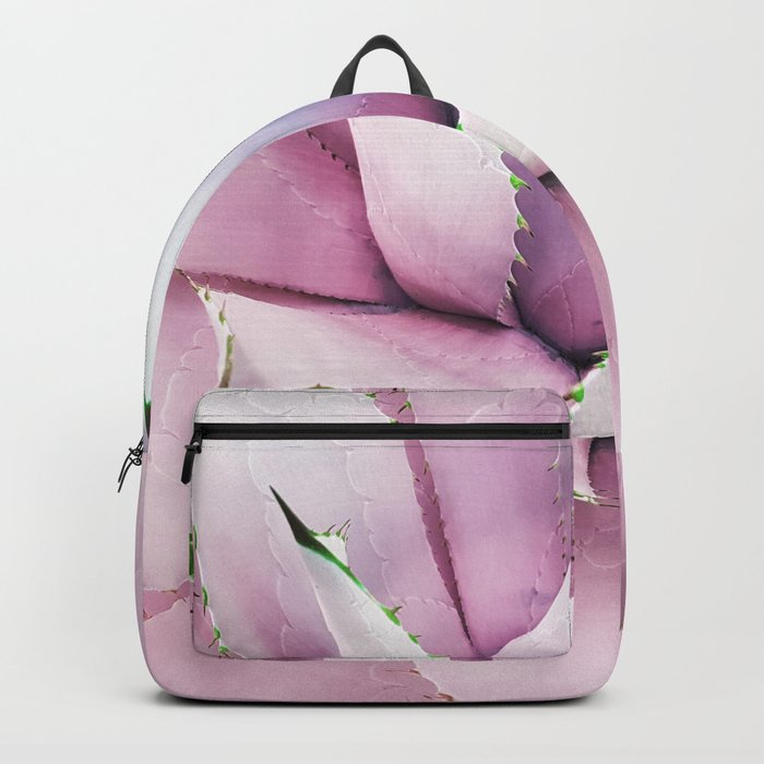 Pink Succulent Backpack