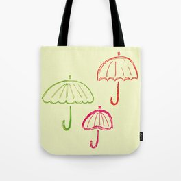 Happy Umbrella Tote Bag