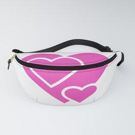 Pretty Pink Triple Love Hearts Fanny Pack