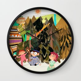 An Afternoon In Neverland Wall Clock