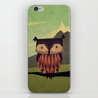 owl iPhone & iPod Skins featuring Owl by Yetiland