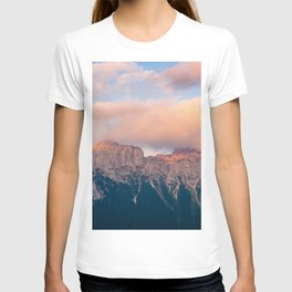 Pink Sunset over Mount Amazing T-shirt