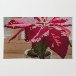 Painted Poinsettia Rug