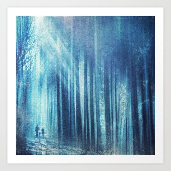 cold forest I.I Art Print