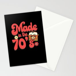 Made In The 70's Hippie Peace Symbol Stationery Cards