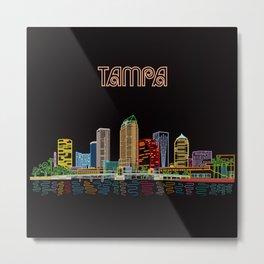 Tampa Circuit Metal Print