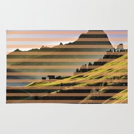Landscape pattern (with pink touches) Rug