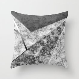 Combined abstract pattern in black and white . Throw Pillow