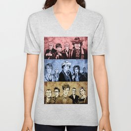 Doctor Who - Three Colours Who Unisex V-Neck