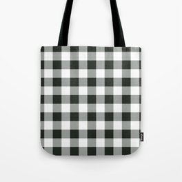 Buffalo Check in black Tote Bag