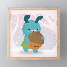 Let's Pick Acorns! Framed Mini Art Print