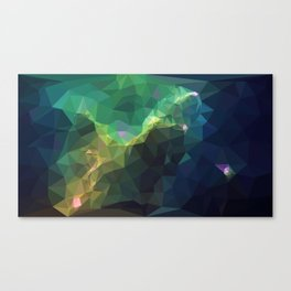 Galaxy low poly 3 Canvas Print
