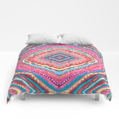 Bright Gypsy Bohemian Abstract Pattern Comforters