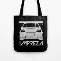 subaru Tote Bags featuring Subaru Impreza - silver - by Vehicle