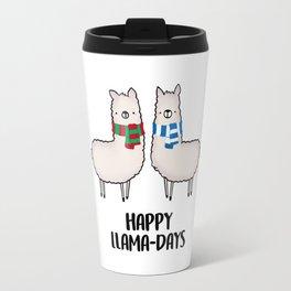 Happy Llama-Days Travel Mug