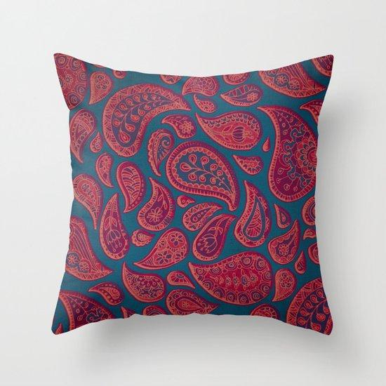 Paisley Doodles Throw Pillow