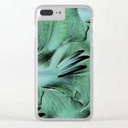 Gladioli Green Clear iPhone Case