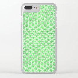 Green Mermaid Scales Clear iPhone Case