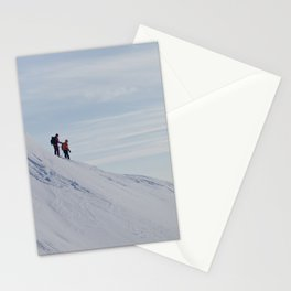 Skiers at Hatcher Pass Stationery Cards