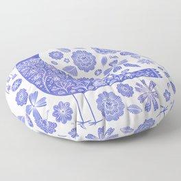 Nordic Bird Blue Floor Pillow