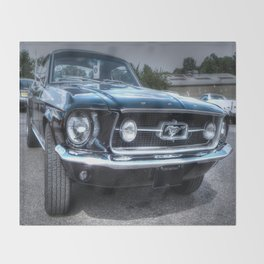 1967 Ford Mustang Throw Blanket